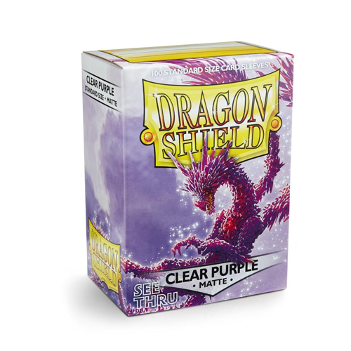 Dragon Shield Sleeves - Matte - Clear Purple