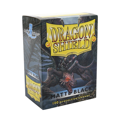 Dragon Shield Matte Sleeves - Matte Black