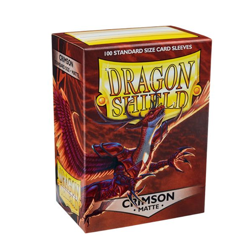 Dragon Shield Matte Sleeves - Matte Crimson