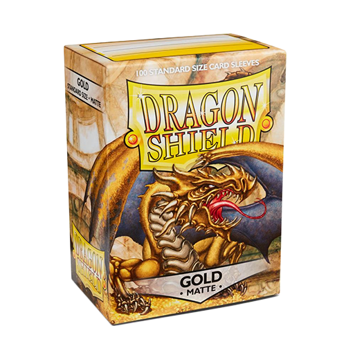 Dragon Shield Matte Sleeves - Matte Gold