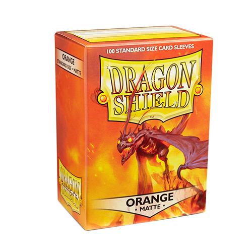 Dragon Shield Matte Sleeves - Matte Orange