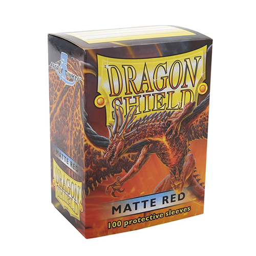 Dragon Shield Matte Sleeves - Matte Red
