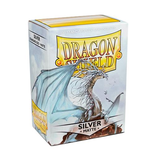 Dragon Shield Matte Sleeves - Matte Silver