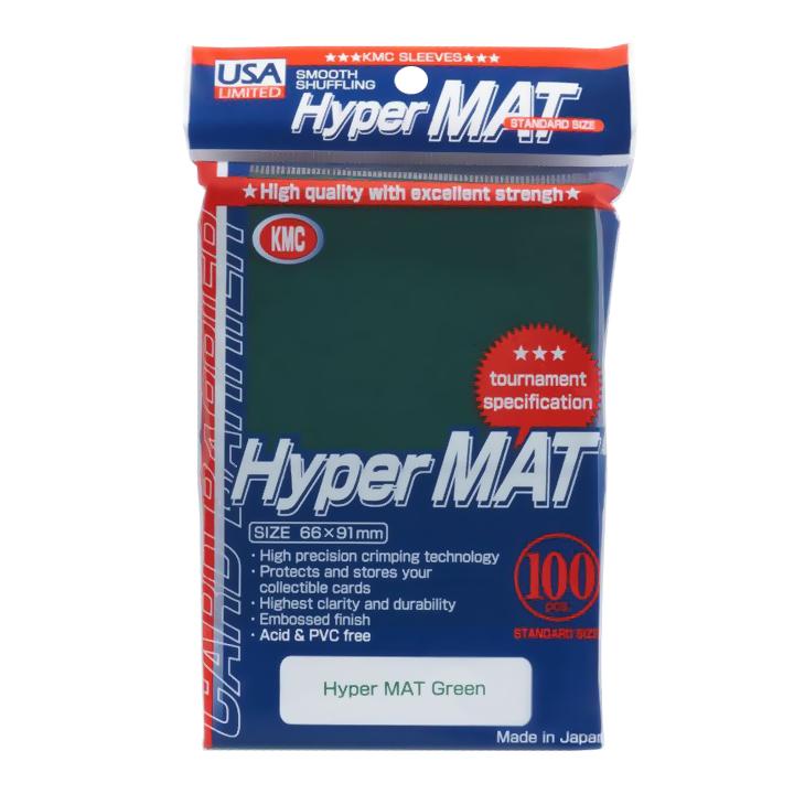 KMC Matte Sleeves - Hyper Matte Green