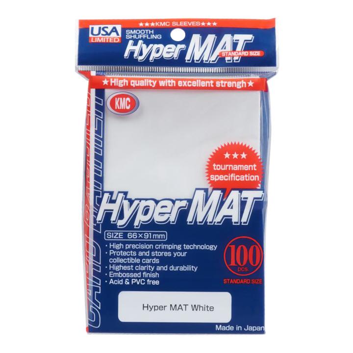 KMC Matte Sleeves - Hyper Matte White
