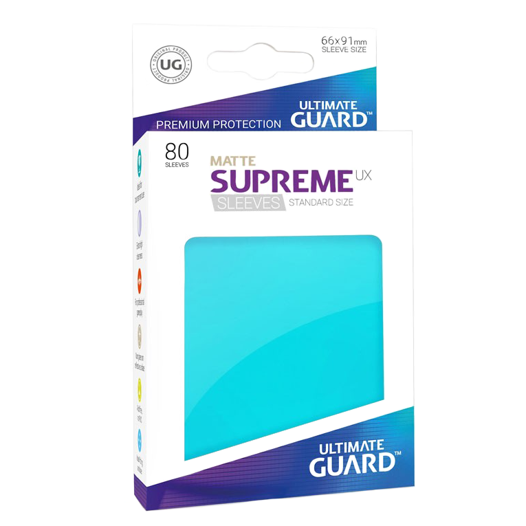 Ultimate Guard Supreme UX Matte Sleeves - Aquamarine