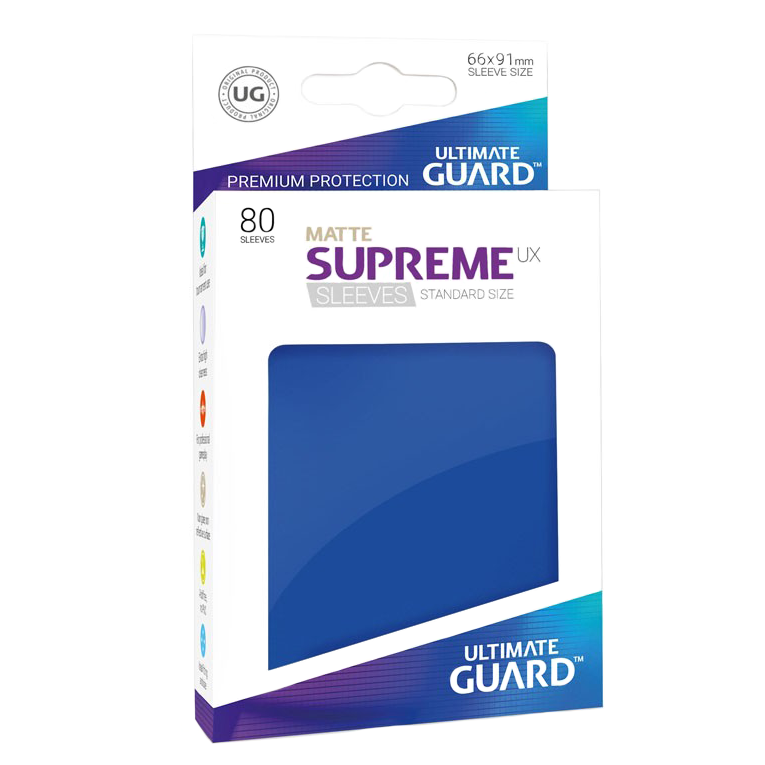 Ultimate Guard Supreme UX Matte Sleeves - Blue