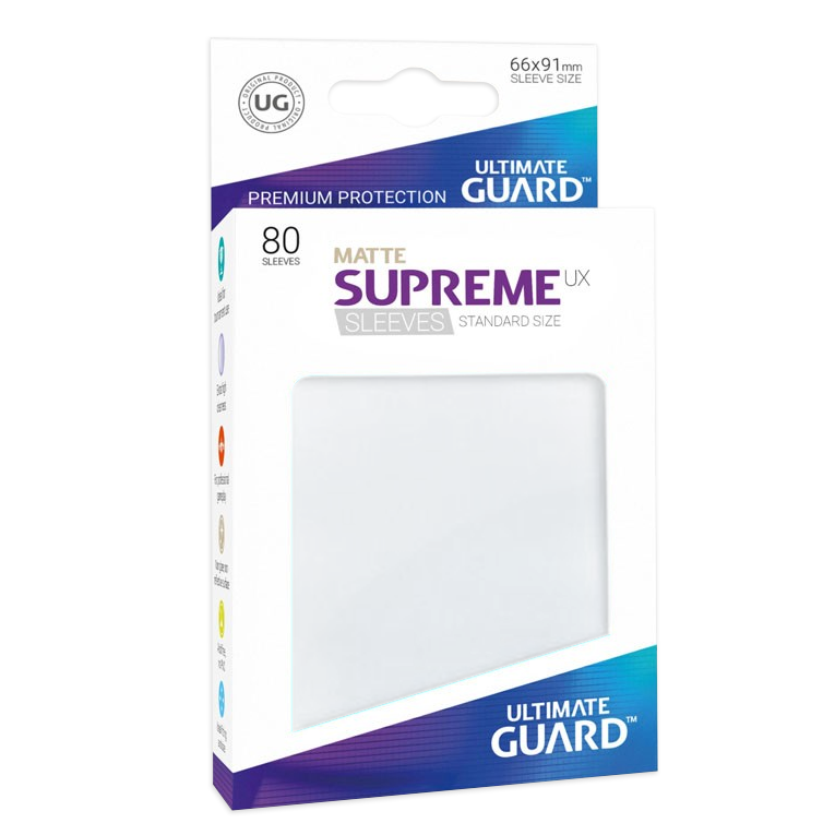 Ultimate Guard Supreme UX Matte Sleeves - Frosted