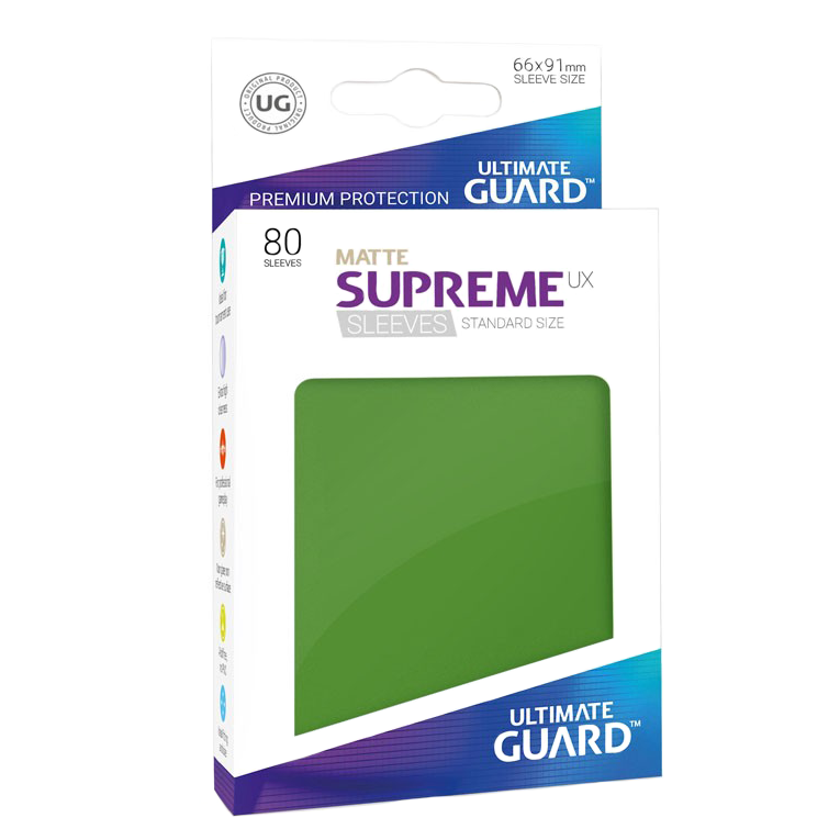Ultimate Guard Supreme UX Matte Sleeves - Green