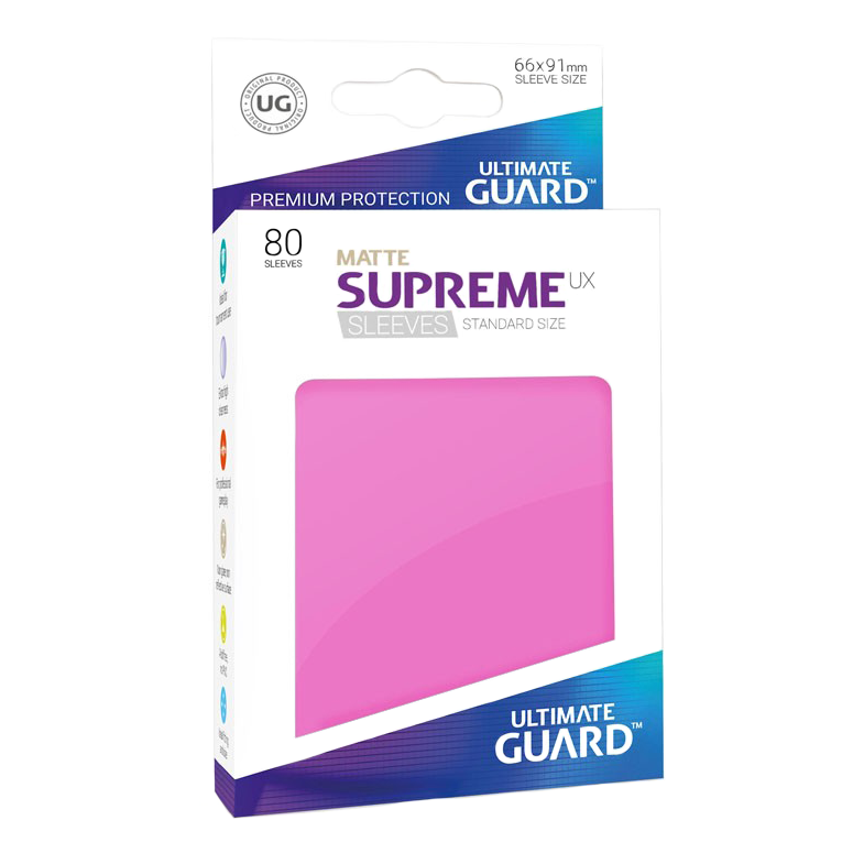 Ultimate Guard Supreme UX Matte Sleeves - Pink