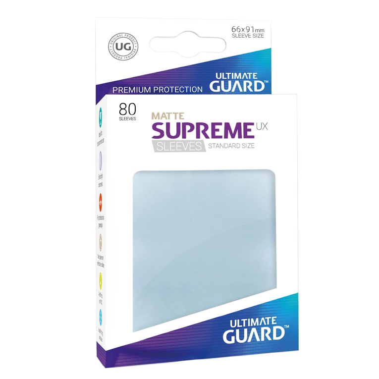 Ultimate Guard Supreme UX Matte Sleeves - Transparent