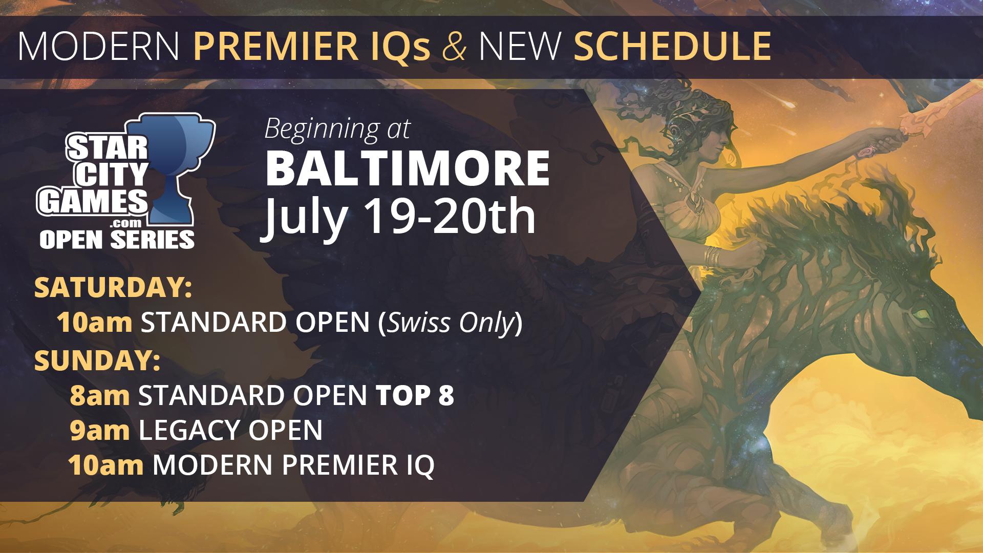 Premier IQ Start Times