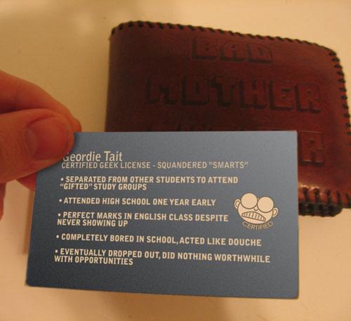 Geek License