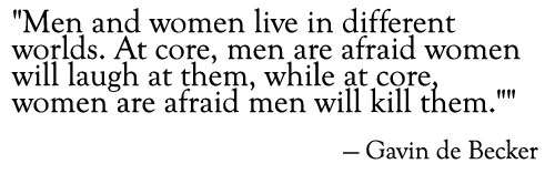 gavin de becker quote men women  fear