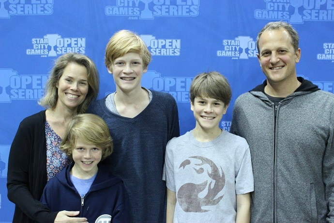 The Kiefer Family at the Dallas Open