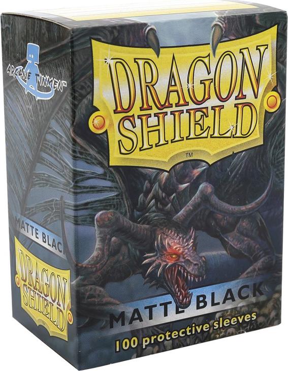 Dragon Shield Matte Sleeves - Matte Black
