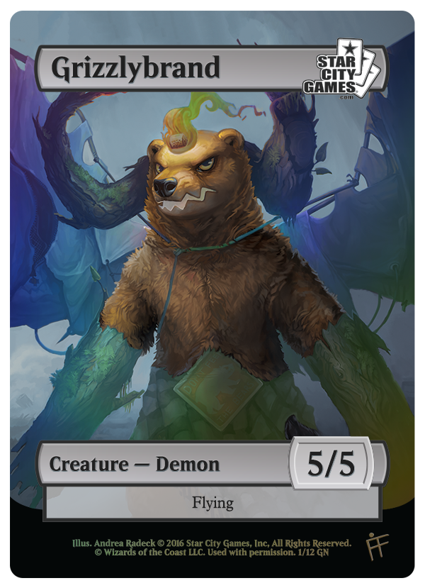 January 2016 Game Night Token - Grizzlybrand