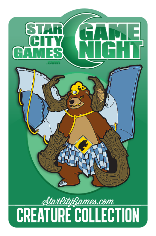 January 2016 Game Night Pin - Grizzlybrand!