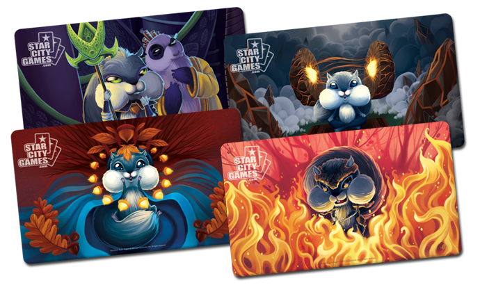Extended Art Squirrel Series Playmats