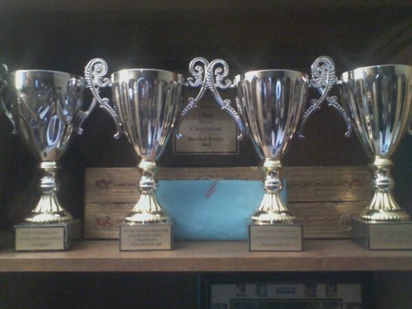 Rill tweeted this photo of his four Open Series trophies, his Ohio State Championship plaque, and his blue envelope for winning a PTQ in Columbus earlier this year.