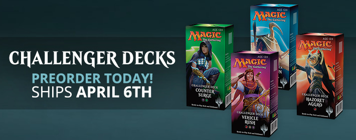Preorder 2018 Challenger Decks Today!