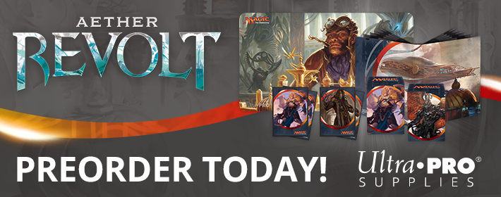 Aether Revolt Ultra Pro supplies available today!