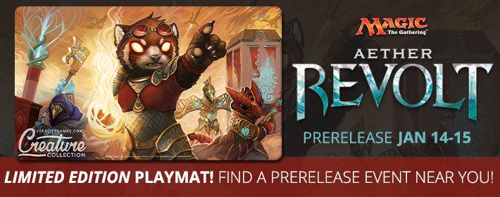 Find An Aether Revolt Prerelease Near You!