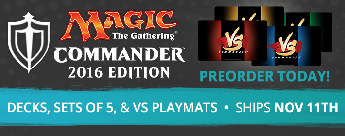 Commander 2016 available for preorder today!