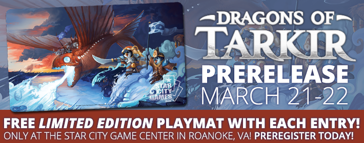 Dragons of Tarkir Prerelease, March 21-22 in Roanoke, VA