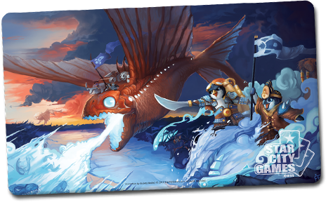 Dragonfish of Antarkir Creature Collection Parody Series Playmat