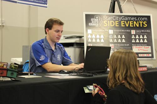 Side event registration stage