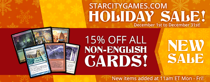 15% off all Non-English Cards