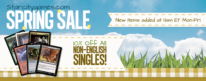 All Non-English Singles - 10% Off!