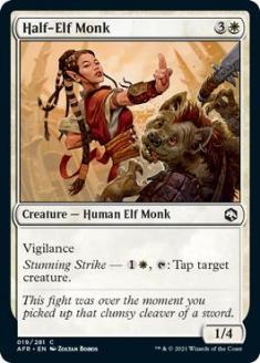 Half-Elf Monk