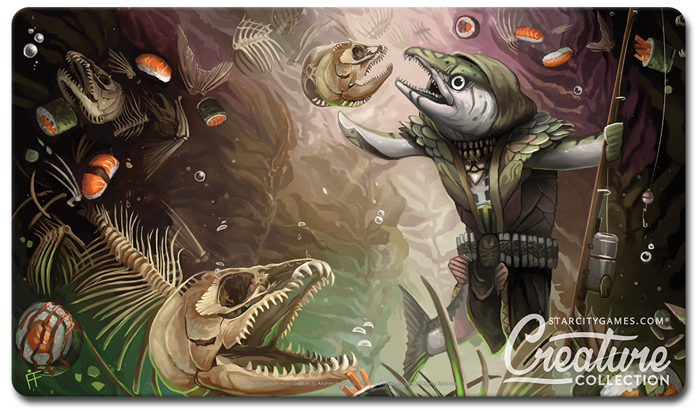 StarCityGames.com Playmat - Creature Collection - Deathrite Salmon