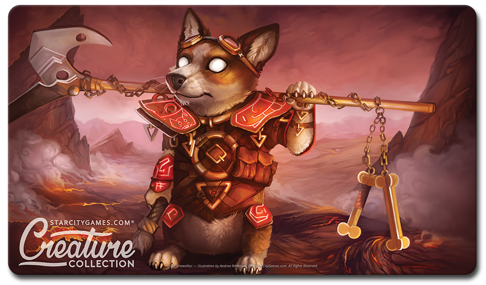StarCityGames.com Playmat - Creature Collection - Corgi Firewalker