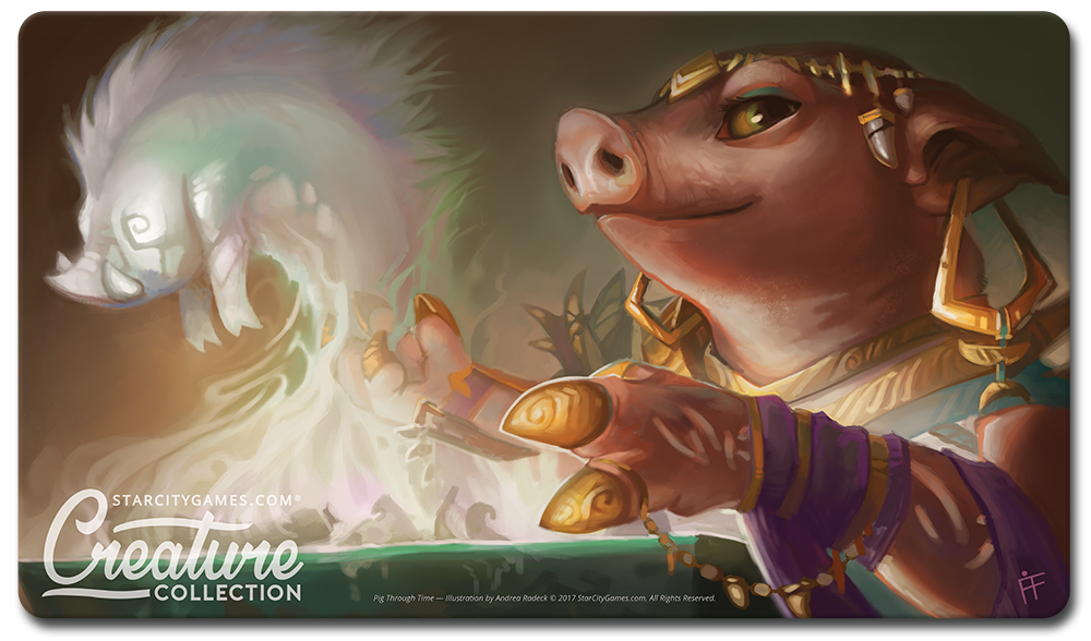 StarCityGames.com Playmat - Creature Collection - Pig Through Time