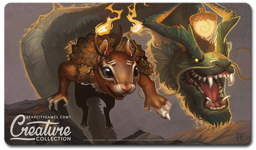 StarCityGames.com Playmat - Creature Collection - Squiki-Chiki, Acorn Breaker