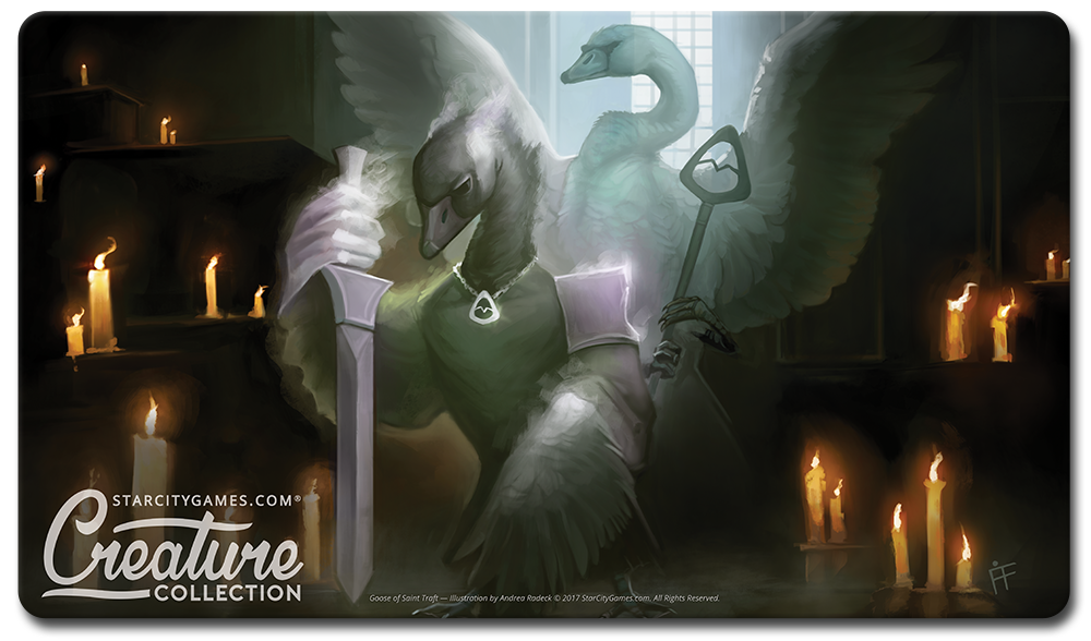StarCityGames.com Playmat - Creature Collection - Goose of Saint Traft