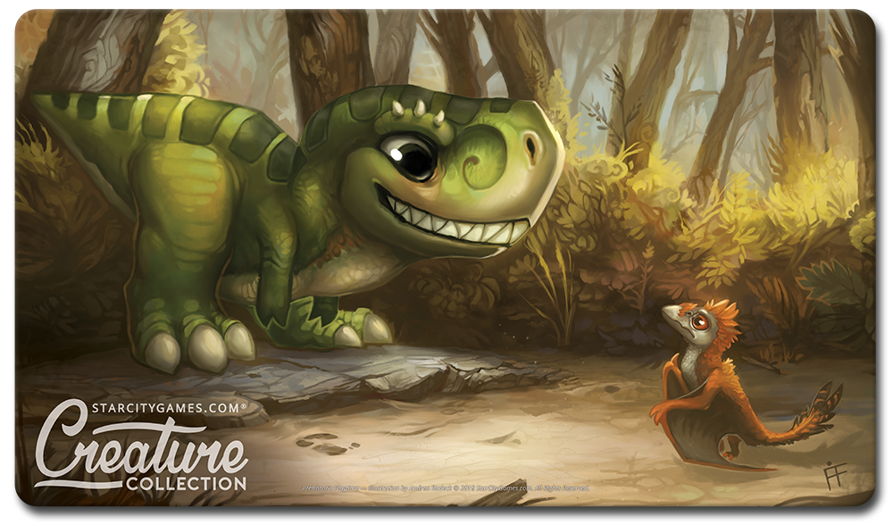 StarCityGames.com Playmat - Creature Collection - Prehistoric Playtime