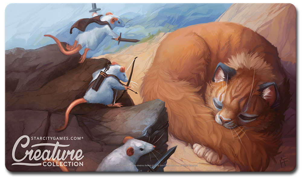 StarCityGames.com Playmat - Creature Collection - Three Brave Mice