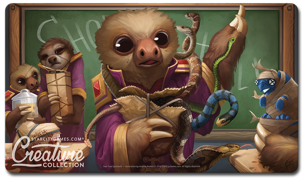 StarCityGames.com Playmat - Creature Collection - Two-Toed Spectacle