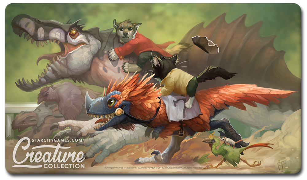 StarCityGames.com Playmat - Prerelease Exclusive Creature Collection - Running on Plumes