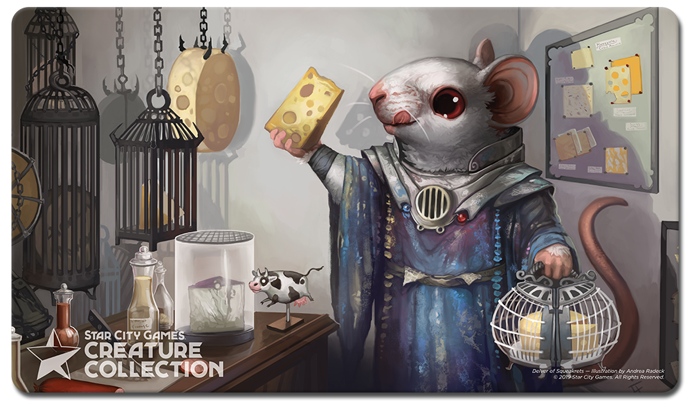 StarCityGames.com Playmat - Creature Collection - Delver of Squeakrets