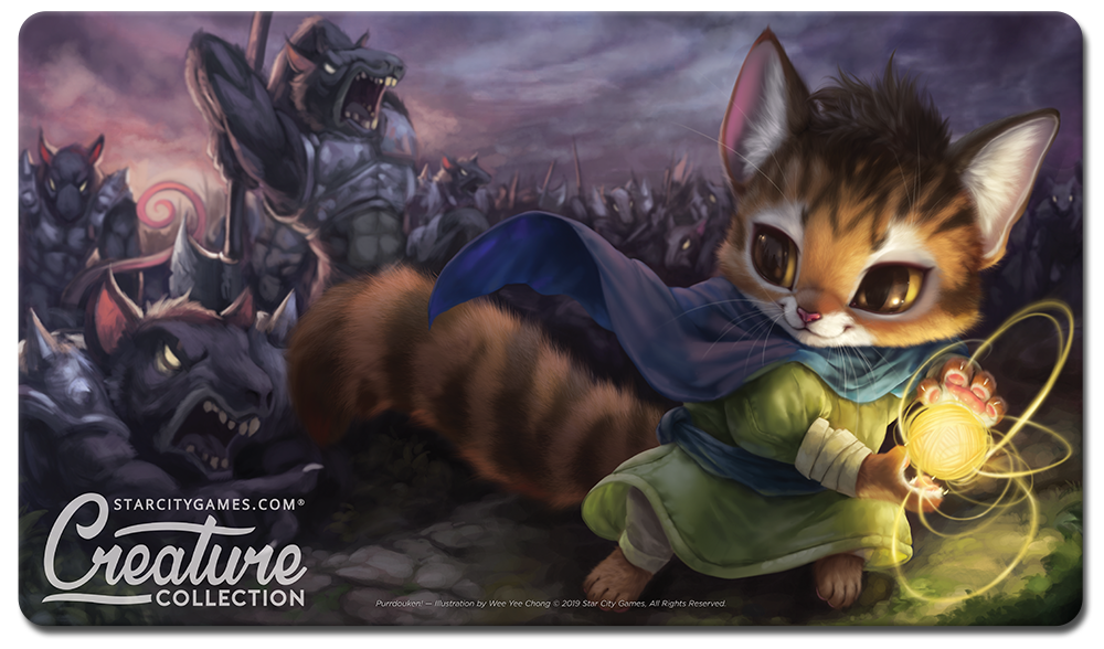 StarCityGames.com Playmat - Creature Collection - Purrdouken!