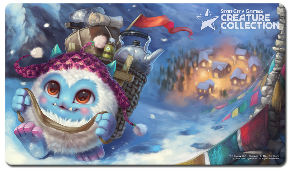 StarCityGames.com Playmat - Creature Collection - Yeti, Steady, Go!