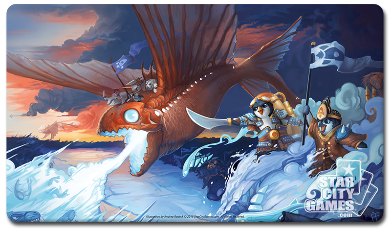 StarCityGames.com Playmat - Prerelease Exclusive Creature Collection - Dragonfish of Antarkir