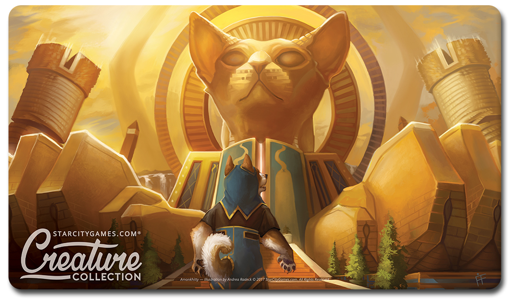 StarCityGames.com Playmat - Prerelease Exclusive Creature Collection - Amonkhitty