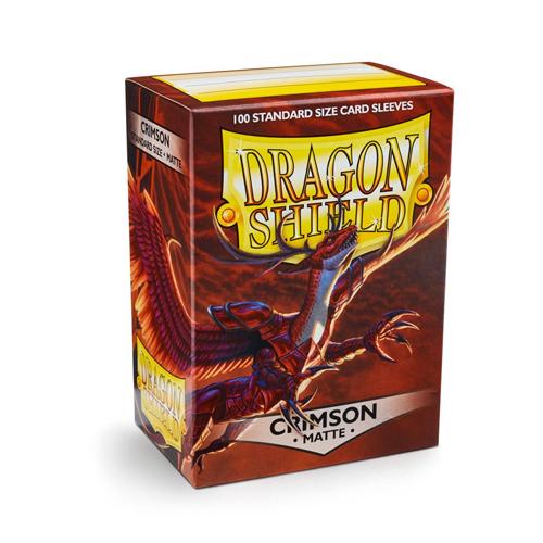Dragon Shield Sleeves - Matte - Crimson