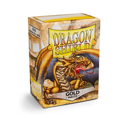 Dragon Shield Sleeves - Matte - Gold
